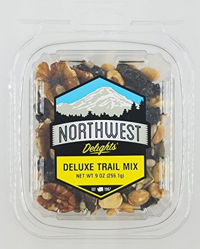 (Deluxe Trail Mix 9oz Snack Pack: Sunflower Seeds, Raisins, Peanuts, Currants, Almonds, Cashews, Pecans, Pumpkin Seeds and Walnuts)