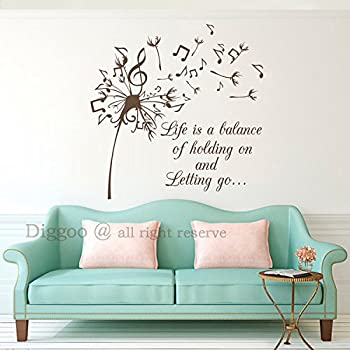 Dandelion Wall Decal Quote   Life Is A Balance Of Holding On And Letting Go    Part 78