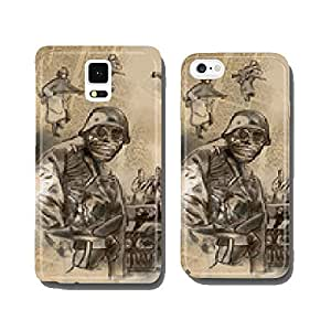 Soldier in mask - An hand drawn vector cell phone cover case iPhone6
