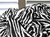 """Napa Soft Fleece Blanket with Sleeves And Pockets Zebra, Super Cozy Microplush Fleece Wearable Throw for Women and Men Adult Comfy Throw Robe, 53"""" x 71"""""""