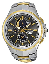 Seiko Men's SSC376 Sport Two-Tone Stainless Steel Solar Chronograph Watch