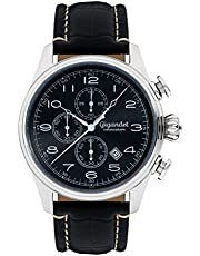 Gigandet Herrenuhr Chronograph Analog Quarz Leder schwarz G41-002