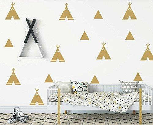 DIY Home Decor Sticker -Teepee style Triangles Wall Sticker -Kids Nursery Bedroom Decoration Decal YYU-7 (Teepee Diy)