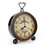 "Allnice 5.3"" Vintage Shelf Clock, Silent"