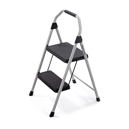 Gorilla Ladders 2-Step Compact Steel Step Stool with 225 lb  Load Capacity  Type II Duty Rating