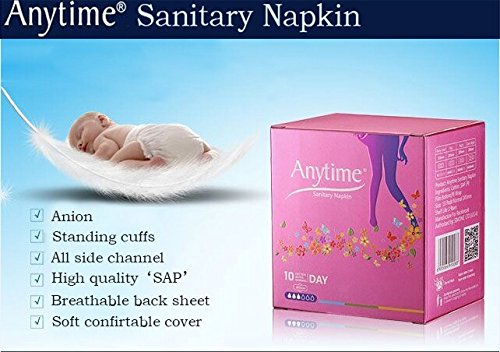 90 Boxes Wholesale Day Use Women Feminine Hygiene Anion Cotton Sanitary Napkin Medicated Menstrual Lady Sanitary Pad SN02 by Anytime