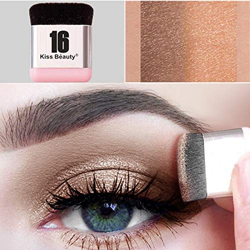 (Xixou Lazy Eyeshadow Stamp 16 brand Holiday Edition Everyday Magazine eye shadow with Double Colors Glitter Gradient Eye Shadow Palette Long Lasting)