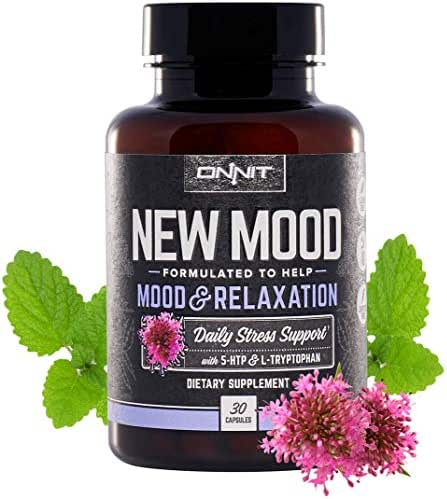 Onnit New Mood - Daily Stress, Mood, Sleep & Serotonin Supplement - 5 htp, L-Tryptophan, Magnesium, Valerian, Chamomile - A Real Chill Pill (30ct)