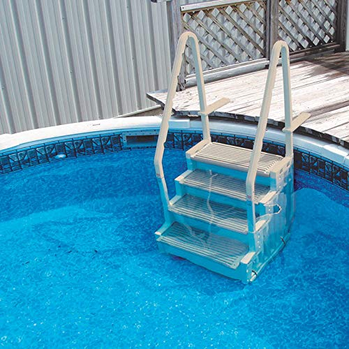 Confer Staircase Style Above Ground Pool Steps Warm Grey - - Design Step Pool