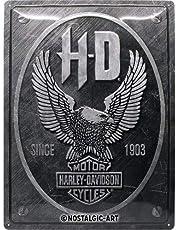Nostalgic-ArtHarley-Davidson - Metal Eagle - Gift idea for motorcycle fansRetro Tin SignMetal PlaqueVintage design for decoration30 x 40 cm