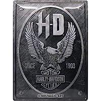 Nostalgic-Art Harley-Davidson - Metal Eagle - Gift idea for motorcycle fansRetro Tin SignMetal PlaqueVintage design for…