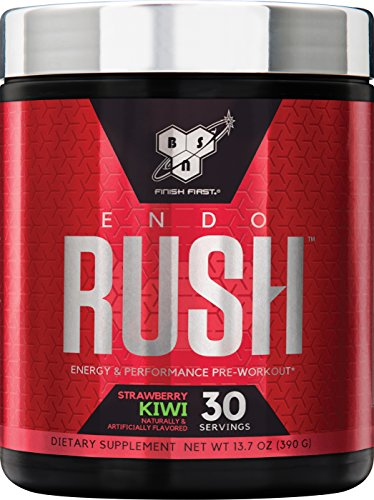 BSN Endorush Energy & Performance Pre-workout Powder with Creatine 30 Servings, Kiwi Strawberry, 13.7 Ounce