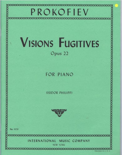 Visions Fugitives, Opus 22 for Piano