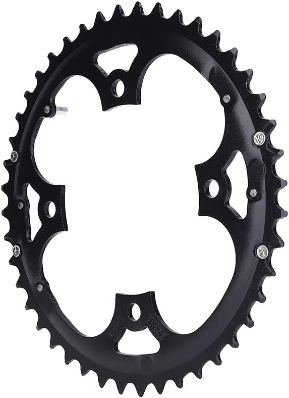 Dilwe Bicycle Chainring Aluminium Alloy 104mm BCD 4-Bolt Mountain Singlespeed Chainring
