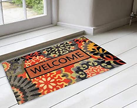 La Décor Rectangle Shape Welcome Doormate for Home (Multicolor): Amazon.in:  Garden & Outdoors