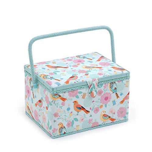 Hobby Gift 'Birdsong' Large Rectangle Sewing Box 23.5 x 31 x 20cm (d/w/h)