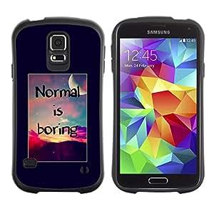 Suave TPU GEL Carcasa Funda Silicona Blando Estuche Caso de protección (para) Samsung Galaxy S5 / CECELL Phone case / / normal is boring inspirational sunset /
