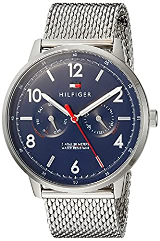 Tommy Hilfiger Men's 'Sophisticated Sport' Quartz Stainless Steel Casual Watch, Color:Silver-Toned (Model: (G Shock Gloss)