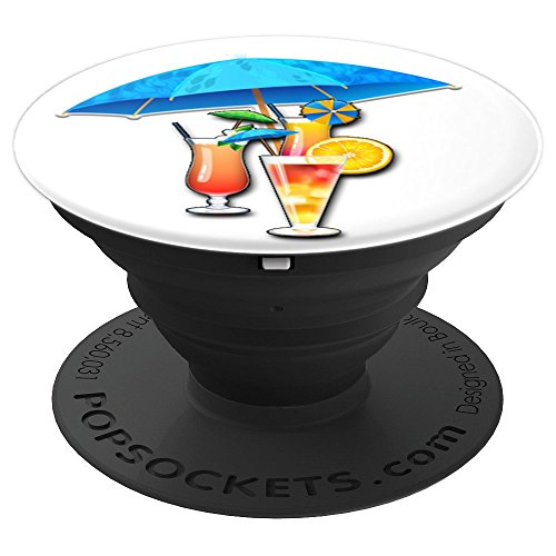 Umbrellas Alcohol Drink Beverage Cocktails Pina Colada - PopSockets Grip and Stand for Phones and Tablets