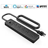 iMah Wifi Smart Power Strip, Surge Protector with USB, Multi Outlet with 3 USB Ports 4 Smart Outlets Overload Switch and 6FT UL Cord, Work with Alexa Google Assistant IFTTT, Control from Anywhere