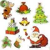 Biback Christmas Decoration Santa Claus Christmas Tree Stickers Decoration