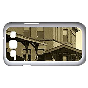 1907 Train station - Watercolor style - Case Cover For Samsung Galaxy S3 i9300 (White)