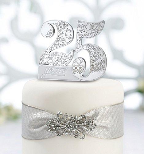 - Lillian Rose 25th Anniversary Decor Number Cake Topper