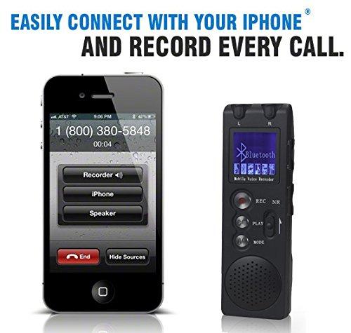 JimTab 4GB Wireless Bluetooth Voice Recorder,Mobile Phone ...
