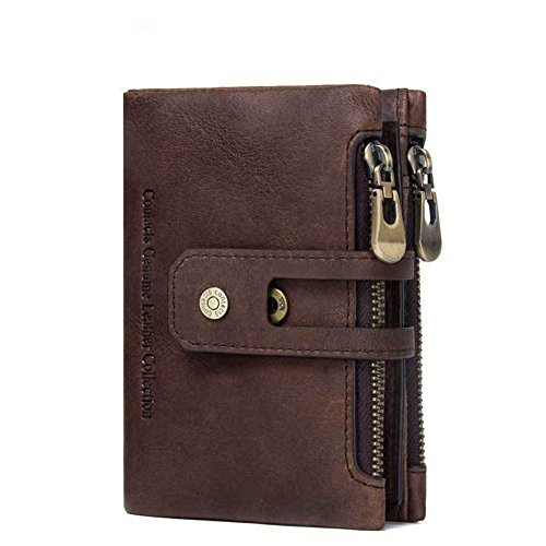 Package Wallet Zero Asdflina High Wallets for Touch Color everyday With Percent Refinement Nice Coffee Suitable Zipper Thirty use Coffee Genuine Leather xqr0q4z8w