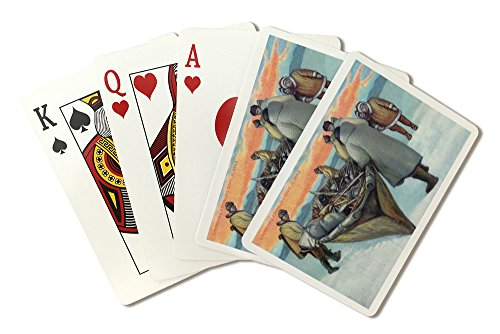 Boat Whaling (Alaska - Eskimos Launching Whaling Boat (Playing Card Deck - 52 Card Poker Size with Jokers))