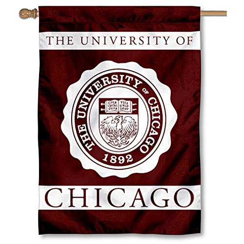 Chicago Maroon UC University College House Flag