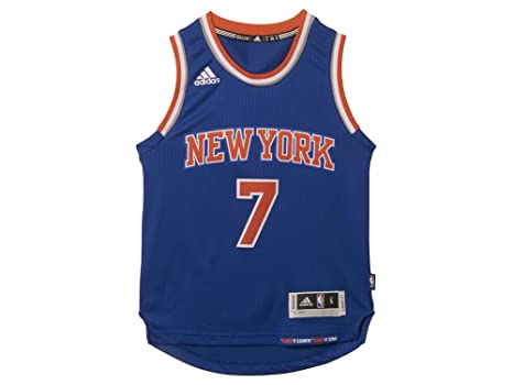 386d21d56ce4 Carmelo Anthony   7 New York Knicks Adidas Blue Youth Swingman NBA Jersey ( Large)