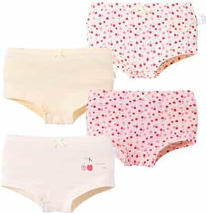 7705a54b211f Tortor 1Bacha Kid Girls' 4 Pack Cotton Underwear Assorted Boyshort Panties