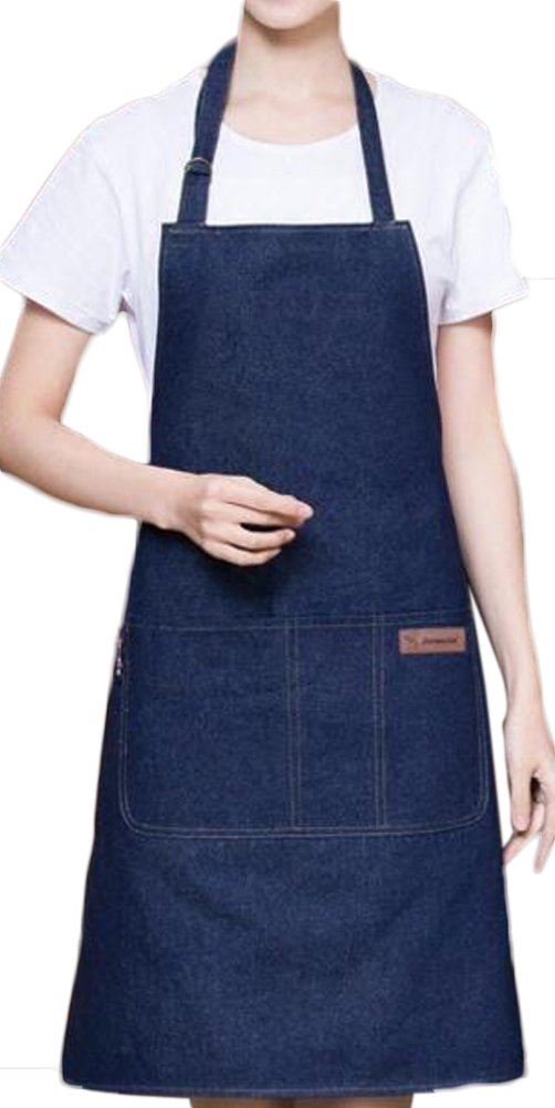 Nanxson(TM) Unisex Women Men's Fashion Jeans Long Gardon Restaurant Cafe Chef Bistro Apron CF3021 (blue) by Nanxson