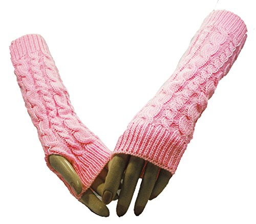 Fashion Dimensions Pink Twin Cross Arm Warmer Gloves