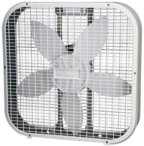 Holmes HBF2010A-WM Box Fan, Metal, 20-Inch, White,Three speed settings (Air Purifier Fan Blade compare prices)