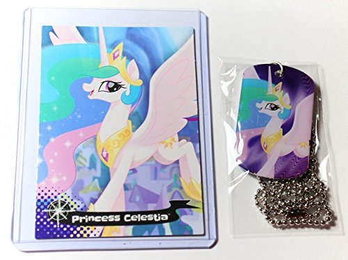 Princess Celestia Costumes For Kids (My Little Pony The Movie Dog Tags necklace # 18 PRINCESS CELESTIA tag and T17 PRINCESS CELESTIA trading card)