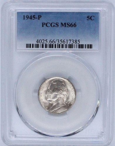 1945 P Silver War Nickel 5C MS66 - Nickels Pcgs