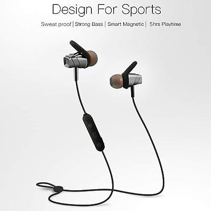 Scheam Casque Bluetooth Sport Basses puissantes, écouteurs
