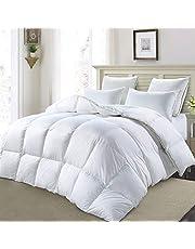 MoSurprise 100% White Goose Down Duvet 10.5 Tog All Seasons Duvet Insert Classic Quilt Hypoallergenic 100% Cotton Shell Down Proof