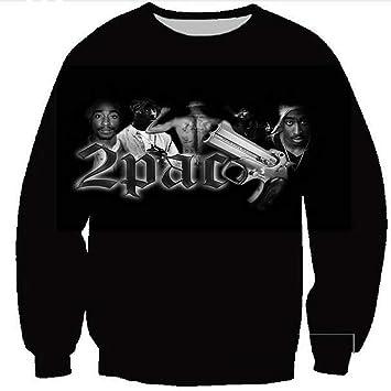 MOIMK 2Pac Tupac Sudadera Rapero Hip Hop 3D Print Pullover Hip Hop Camiseta tee Top,XXXL: Amazon.es: Deportes y aire libre