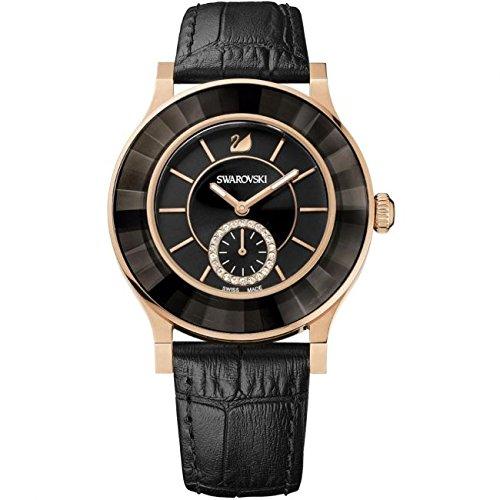 Amazon.com: Swarovski Womens Octea 1181762 Black Leather Swiss Quartz Watch: Swarovski: Watches