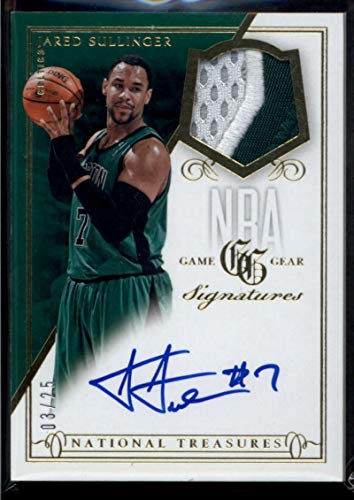 Jared Sullinger 2013-14 Panini National Treasures NBA Game Gear Signatures Prime #45 Jersey Patch Auto /25 Basketball Celtics NBA