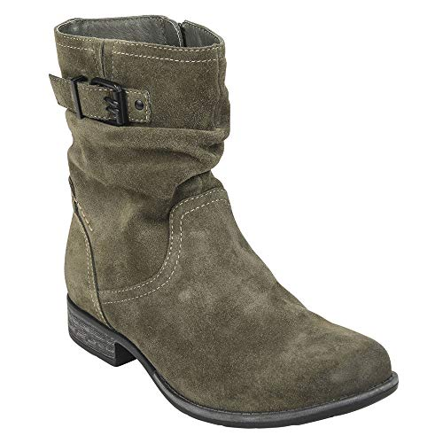 Distressed Suede Boot - Earth Women's Beaufort Olive Suede 9.5 B US