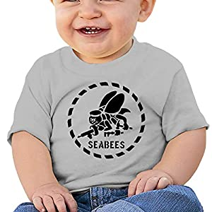LUCIFA BAY US Army Seabee Children's T Shirt Baby Boys Girls Tee Infant Toddler T-Shirt