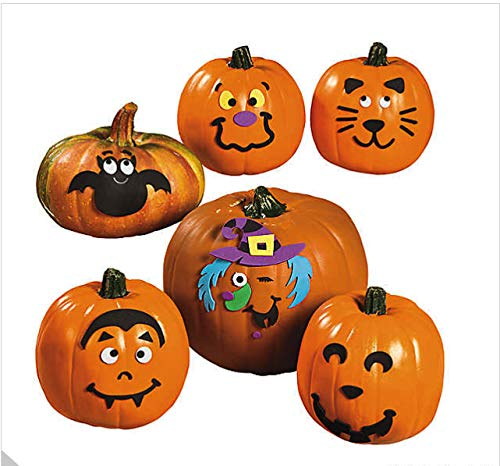 Foam Pumpkin Decorating Kits - Set of 24 Halloween Crafts for Kids by 18th Street Party Supplies (Image #5)
