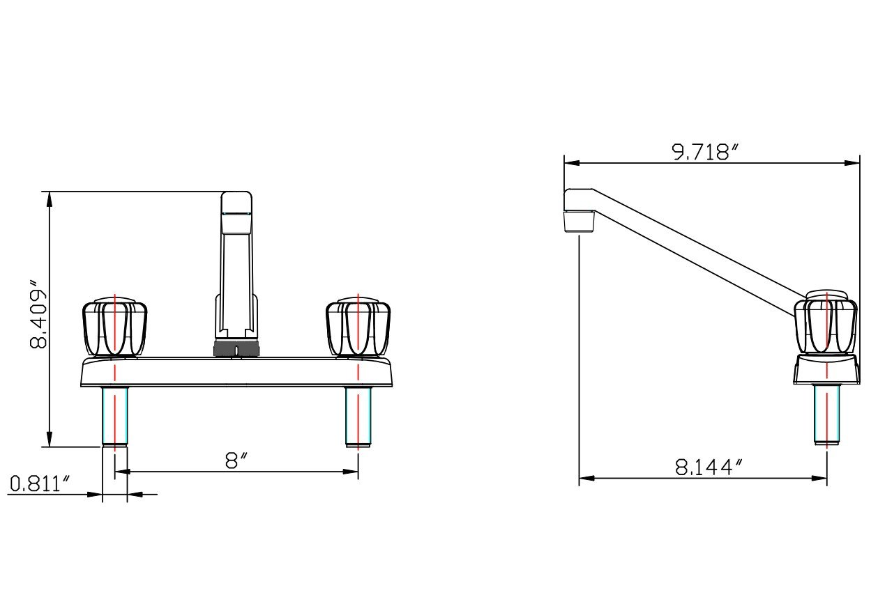 Kitchen Faucet For Rv Two Handle With Smoked Knobs Nash Fifth Wheel Wiring Diagram Bisque Parchment By Dura Automotive