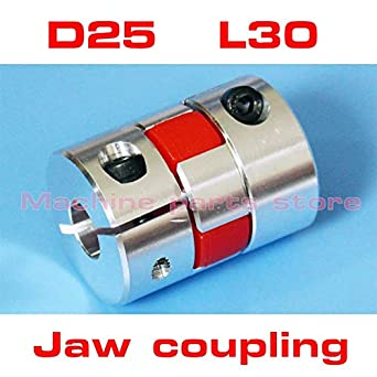 "5 x 6.35 mm 1//4/"" Flexible Jaw Coupling CNC Shaft Spider Stepper Motor Coupler"
