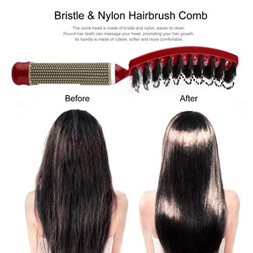 2020 Women Hair Scalp Massage Comb Bristle & Nylon Hairbrush Wet Curly  Detangle Hair Brush for Salon Hairdressing Styling Tools (Black) |  Pricepulse