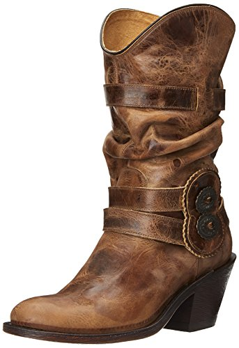 Johnny Ringo Women's Rochelle Slouch Boot,Tan,8 B US (Cinch Cowboy Boots Womens)